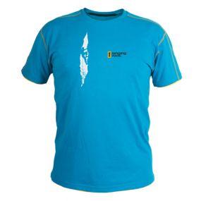 Camiseta hombre azul Singing Rock